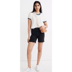 Madewell High-Rise Mid-Length Shorts in Lunar